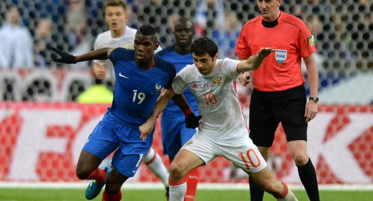 Сборная России сыграет с Францией